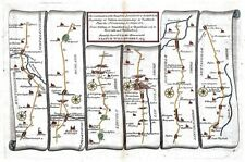 Antique map, The Road from London to Barwick, beginning at Stilton plate 006