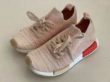 NEW! ADIDAS NMD R1 PEACH PINK RED PRIMEKNIT WOMEN's BOOST SNEAKERS SHOES US 7.5