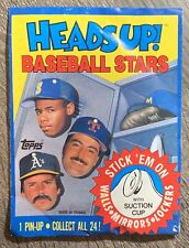 1990 Topps Heads Up! Baseball Stars Pin-Up Cards UNOPENED PAPER PACK - Free Ship
