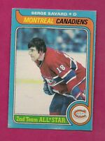 1979-80 OPC # 101 CANADIENS SERGE SAVARD AS NRMT CARD  (INV# 8271)