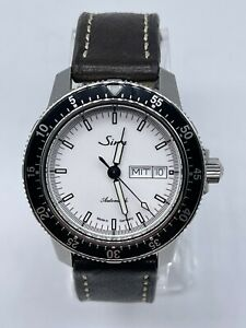 Sinn 104 St Sa I W White Dial Pilots Watch, Fully serviced, 3 Straps Included