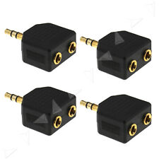 4Pcs 3.5mm Headphone Stereo Gold Plated Jack Splitter Switcher Adaptor 1 to 2