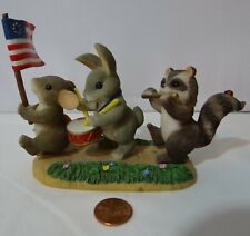 Charming Tails Free To Be Friends Usa Flag Patriotic Mouse Rabbit Raccoon 89/116