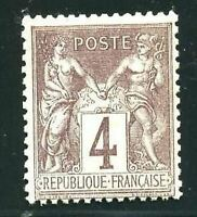 "FRANCE STAMP TIMBRE YVERT N° 88  "" TYPE SAGE 4c LILAS-BRUN  "" NEUF XX LUXE"