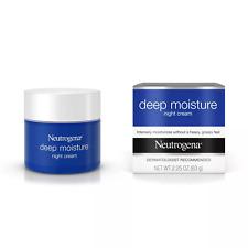 Neutrogena Deep Moisture Night Cream with Glycerin & Shea Butter 2.25oz NIB