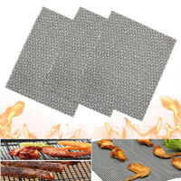 1/3 x BBQ Grillgitter Grill Matte Unterlage Backmatte Antihaft Teflon Netz Neu