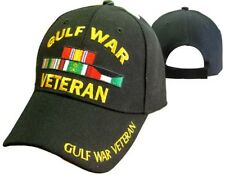 Gulf War Veteran Vetrans Ribbon 3d Embroidered Baseball Cap Hat (Licensed)