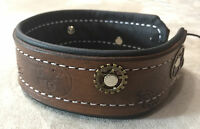 Hand tooled leather steampunk collar