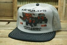 Vintage CASE IH ARNOLD'S MINNESOTA Mesh Snapback Trucker Cap Hat Made In USA