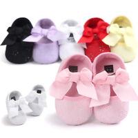 KQ_ CW_ Baby Newborn Toddler Girl Crib Shoes Pram Soft Sole Prewalker Anti-slip