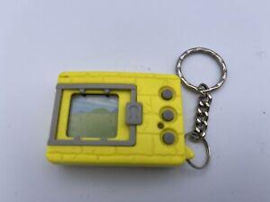 Original 1997 Digimon Tamagotchi Virtual Pet Keychain Neon Yellow Digivice.  A1