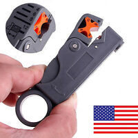 Rotary Coaxial Coax Aerial Sky TV Cable Stripper Cutter Tool RG6 RG59 US