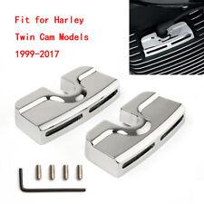 Chrome Spark Plug Head Bolt Covers For Harley Dyna Softail Twin Cam 99-17 Model