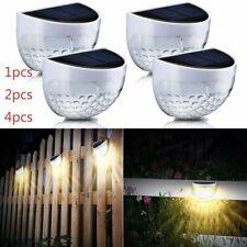 Modern 6LED Solar Powered Light Outdoor Garden Landscape Fence Yard Wall Lamps