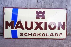Emailschild MAUXION Schokolade - original Zustand