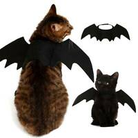 Halloween Cosplay Pet Funny Costume Puppy Black Bat Wings Clothes For Dog Cat