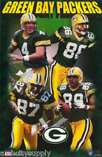 POSTER -NFL FOOTBALL: GREEN BAY PACKERS STARS OF 1998-FREE SHIP #1595 LC24 Y