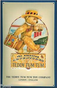 Teddy Tum Jouet Compagnie Londres The Amazing Adventures 11cm x 8cm Plaque