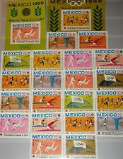 KINGDOM YEMEN JEMEN KÖNIGREICH 1968 493-02 A-B Block 73 75 B Olympics Mexico MNH