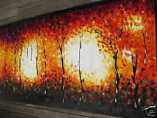 Massive Large  Bushfire Dreaming canvas  Art Painting Texture Oils By Jane
