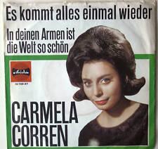 """7"""" 1964 ! CARMELA CORREN : Es kommt alles einmal wieder"""