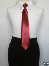 New  14 Color Satin Clip on Ties 4 BOYS Suit size 8,10,12,14, tie sz:( L) 14.5