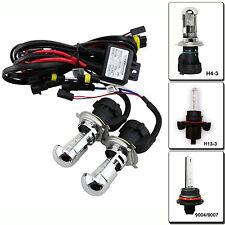 2PCS HID Replacement Bulbs 55W HID H4-3 9003 6000K Bi xenon Hi/Lo DUAL beam