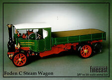 """Foden """"C"""" type 6 ton white metal kit of Steam lorry wagon to assemble and paint"""