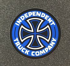 Independent Truck Company Skateboard Sticker CROSS 2in small blue si
