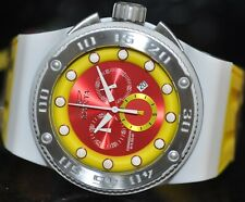 Invicta Men's Rare Akula Chronograph Red Dial Yellow Polyurethane Watch 12297