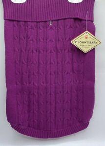 St. John's Bark Quality Pet Apparel Dog Sweater Large (Chest 24-30in) Fuschia