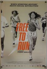FREE TO RUN ROLLED ORIG 1SH MOVIE POSTER SWITZER BENOIT PREFONTAINE LEBOW (2016)