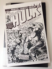 Incredible Hulk #181 Cover Recreation 11 x 17 - 1st WOLVERINE