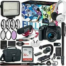 Canon EOS Rebel T7i DSLR Camera Video Kit with Canon 18-55mm Lens