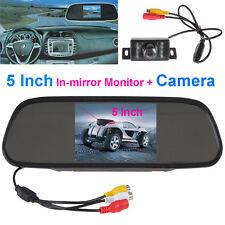 5 Inch LCD Display Rear View Monitor +7 IR Lights Night Vision Car Backup Camera