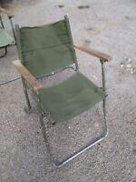 Folding MOD Land Rover Canvas Chair Grade 2 Military Army Garden Festival Racing