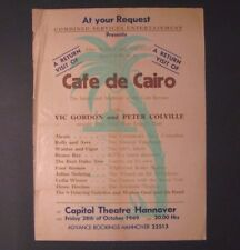*1949 Original Capitol Theatre Hannover Jazz & Variety / Vaudeville Acts Poster*