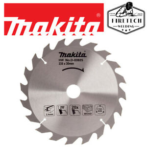 Makita D-03925 Circular Saw Blade for Wood 235 x 30mm x 20T