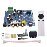 DSD DAC Decoder Board Support IIS DSD 384KHz Coaxial Optical Fiber DOP TFT sztop