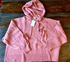 H&M pink oversized hooded sweater,  Size XS/S