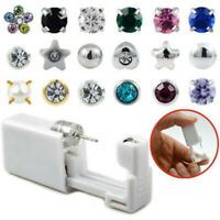 Safe Disposable Sterile Ear Stud Piercing Ear Piercer Unit Gun Cartilage Earring