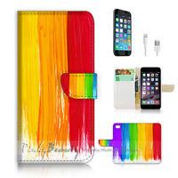 ( For iPhone 7 ) Wallet Case Cover P2451 Colour Paint
