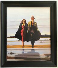 JACK Vettriano ROAD per nulla incorniciato tela effetto ART PRINT 55cm x 42cm Nero