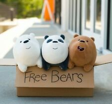3pcs Set We Bare Bears Plush Toy Grizzly Panda Stuffed Soft 12x25cm Grizzly BT31