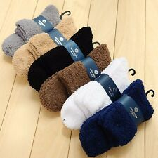 4Pair Extremely Cozy Cashmere Socks Men Women Winter Warm Sleep Bed Floor Fluffy