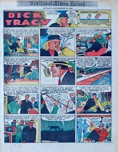Dick Tracy by Chester Gould - full tab Sunday color comic page - Sept. 20, 1953