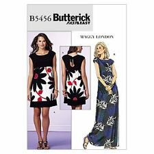 Butterick B5456 Misses'/Misses' Petite Back-Keyhole Dress, Size BB (8-10-12-14)
