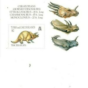 Turks and Caicos - 1993 - Dinosaurs - Souvenir Sheet - MNH (Scott#1043)