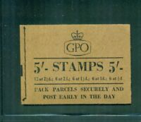 Great Britain 5s Wilding Booklet January 1956 SG H19