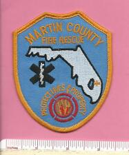 Martin County Fl Fla State of Florida Fire Rescue Firefighter Shoulder Patch